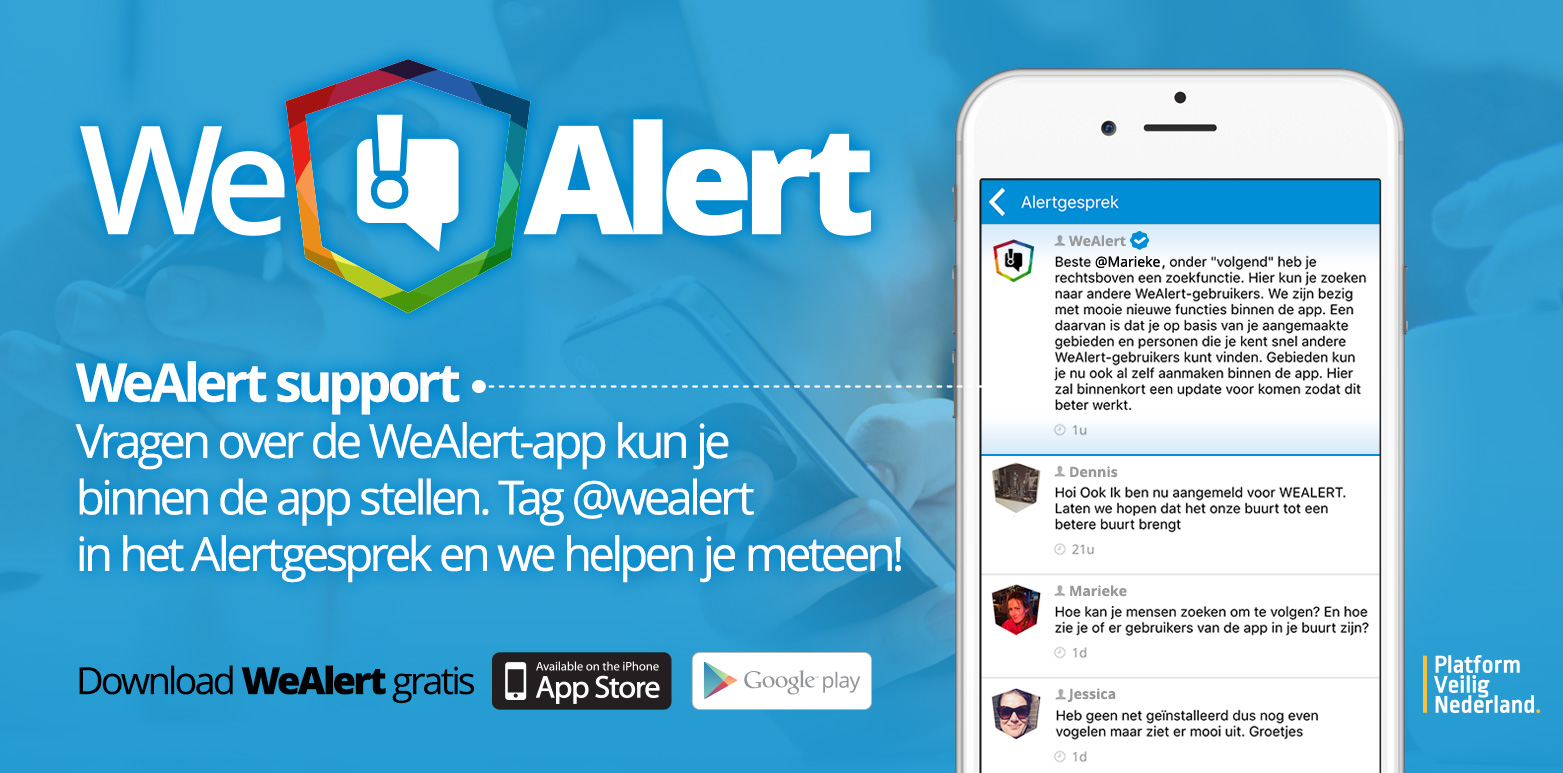 WeAlert app-support